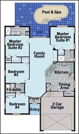 Highgrove luxury 4 bed villa florida for Highgrove house floor plan